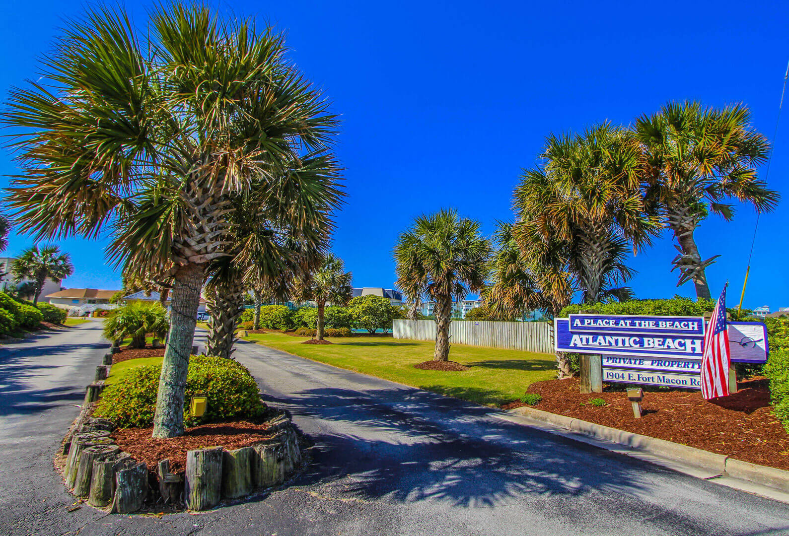 A Place At The Beach Resort Signage