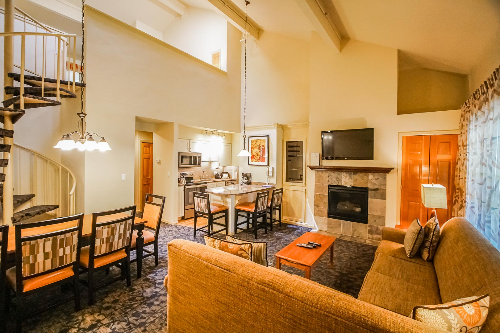 An expansive unit with a loft at VRI's Aspen at Streamside in Colorado.