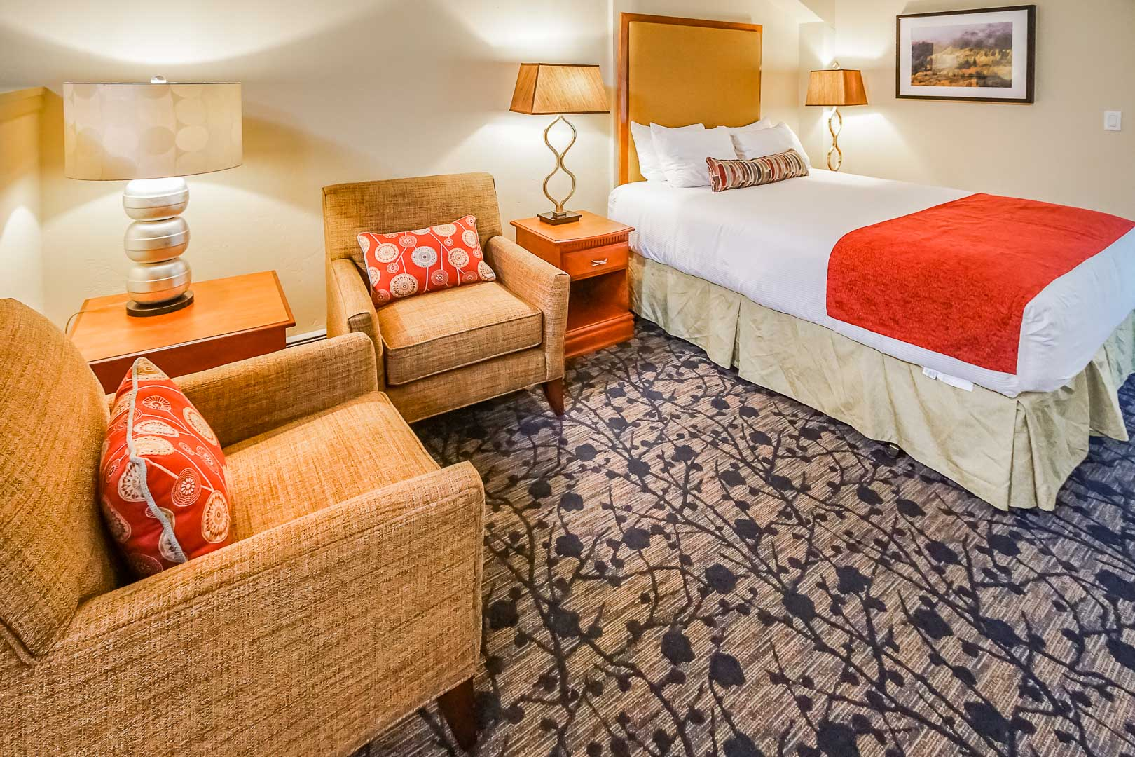 A king size bed at VRI's Aspen at Streamside in Colorado.