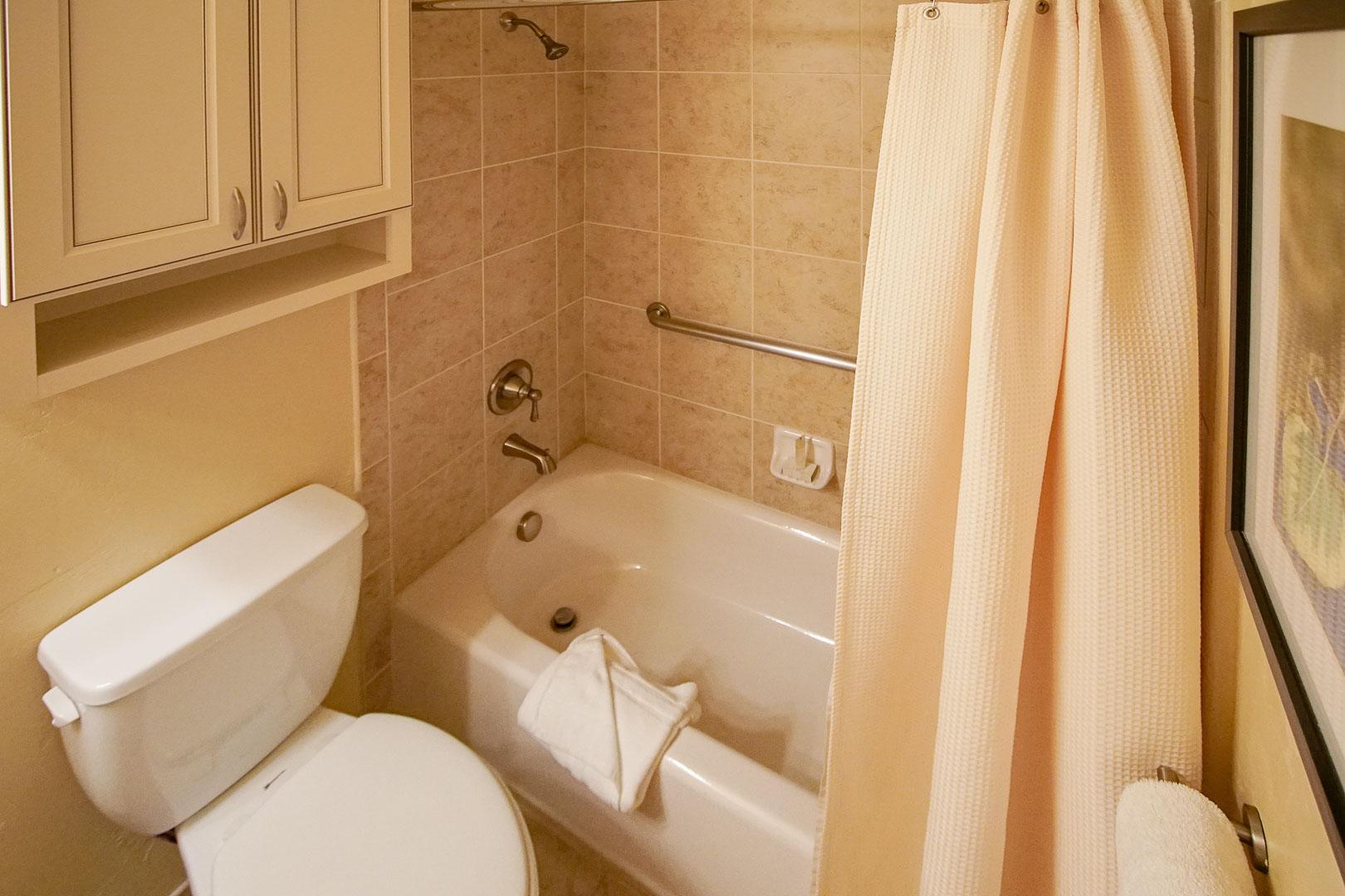 A clean bathroom at VRI's Aspen at Streamside in Colorado.