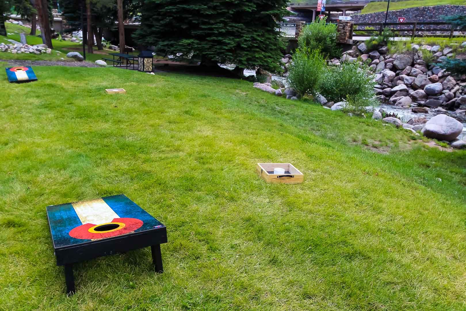 A spacious outdoor area at VRI's Aspen at Streamside in Colorado.