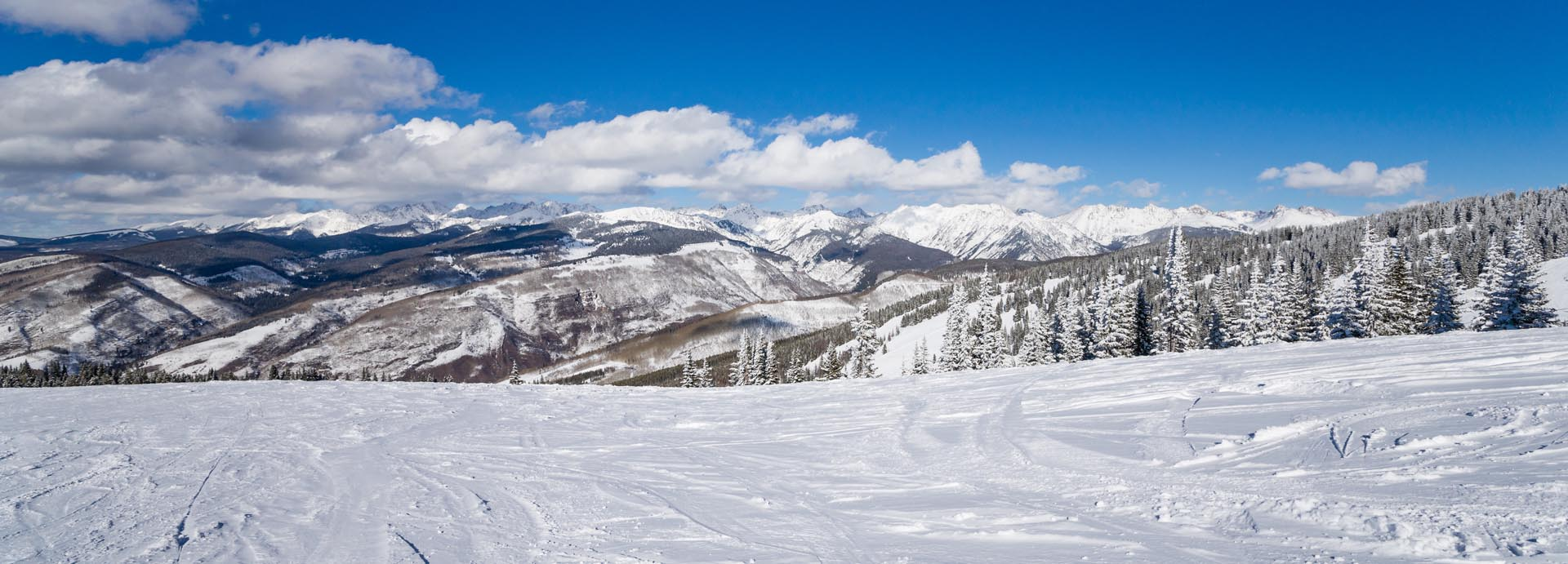 white snow mountains at VRI's Aspen at Streamside in Colorado.