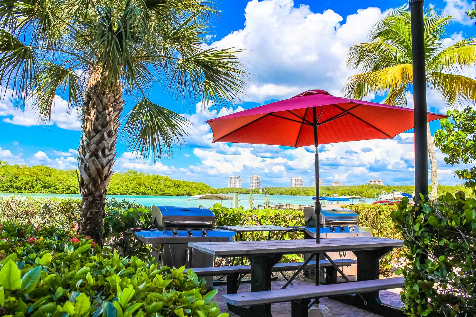 A relaxing view at VRI's Bonita Resort and Club in Florida.