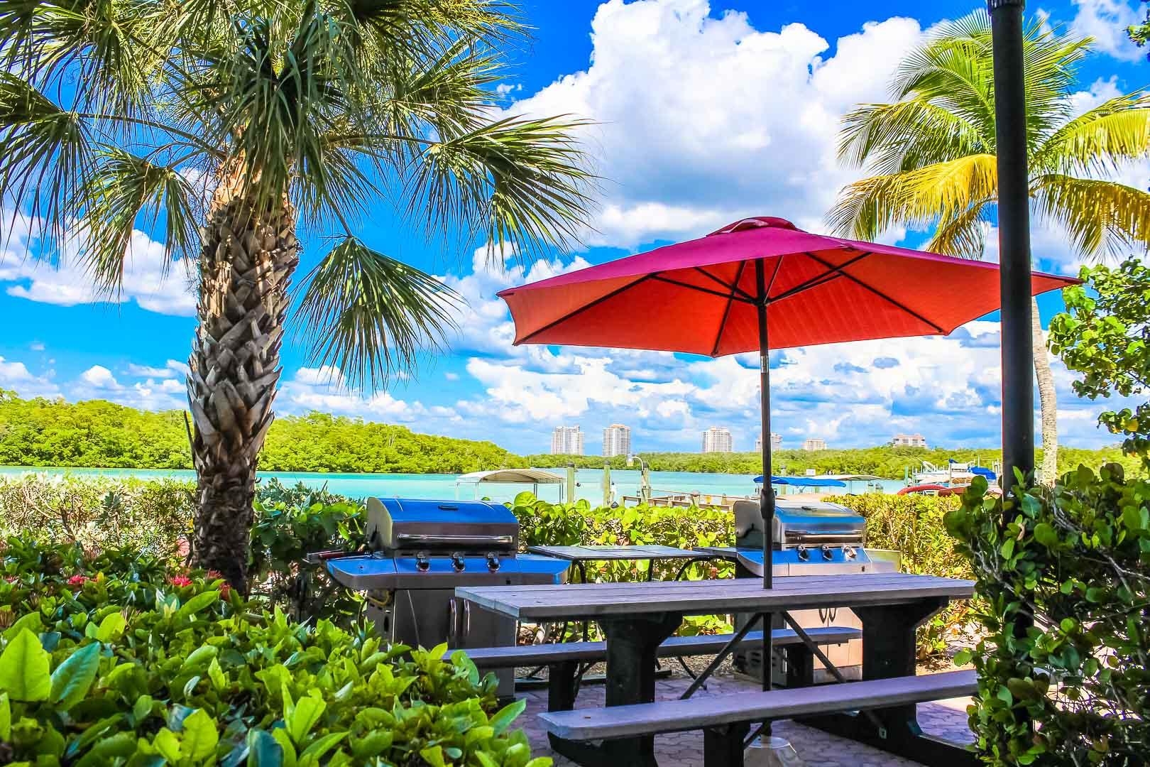 A relaxing view at VRI's Bonita Resort and Club in Florida.