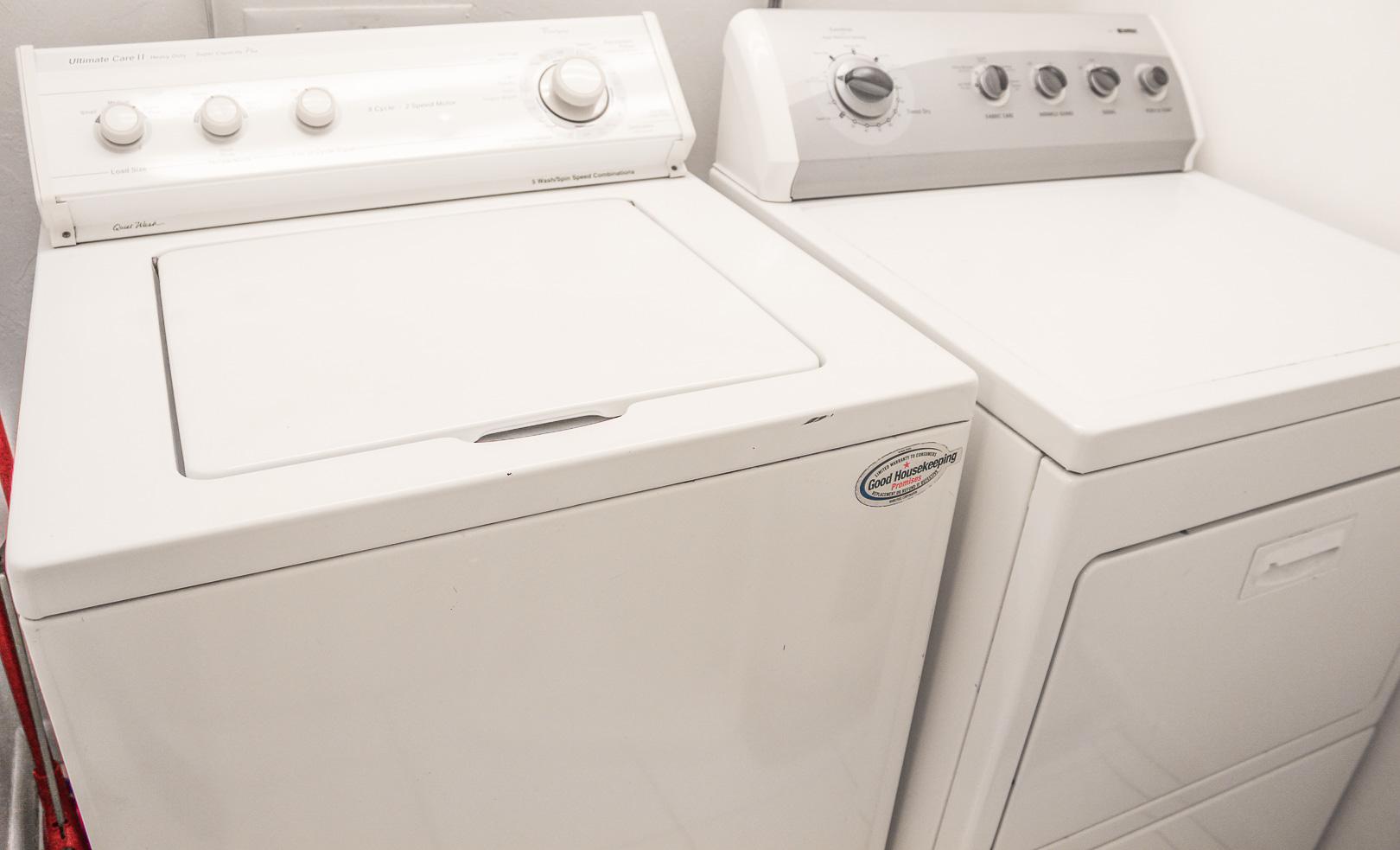 Laundry facilities at VRI's Bonita Resort and Club in Florida.