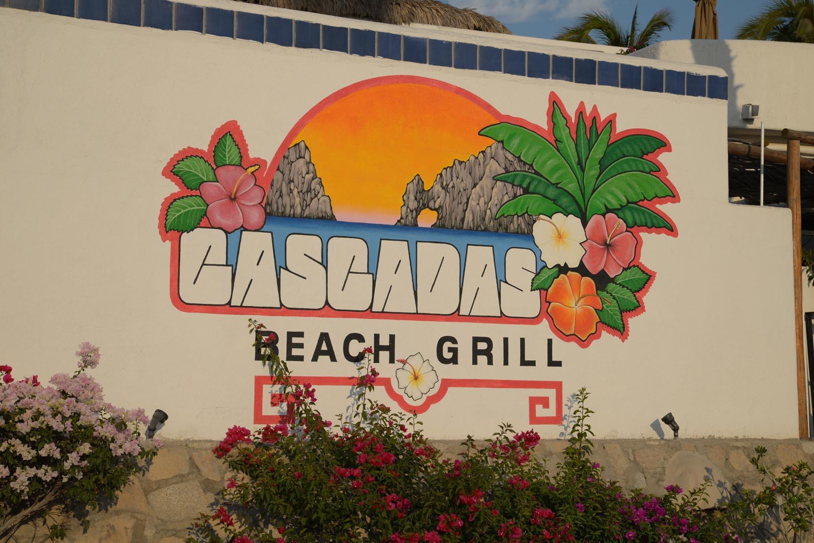 Club Cascadas Signage