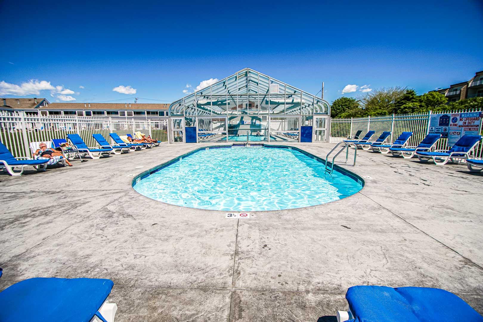 A refreshing indoor pool at VRI's Edgewater Beach Resort in Massachusetts.