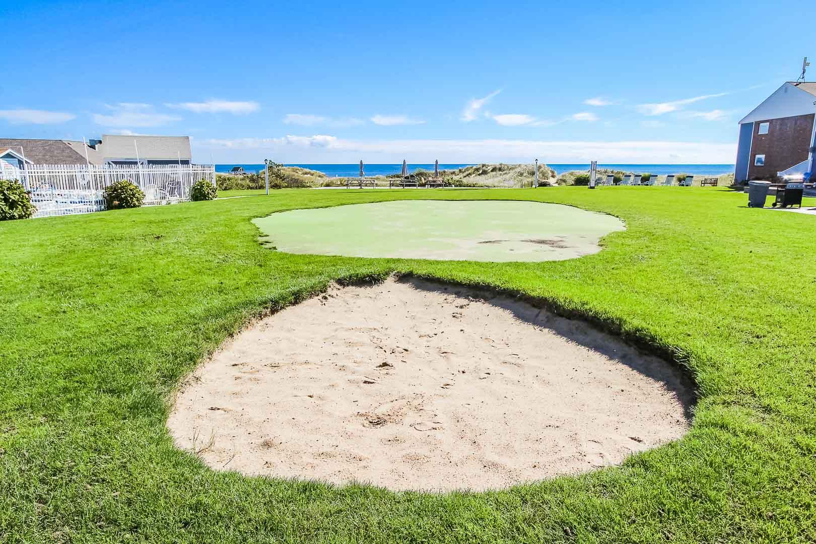 A serene beach view from VRI's Edgewater Beach Resort in Massachusetts.