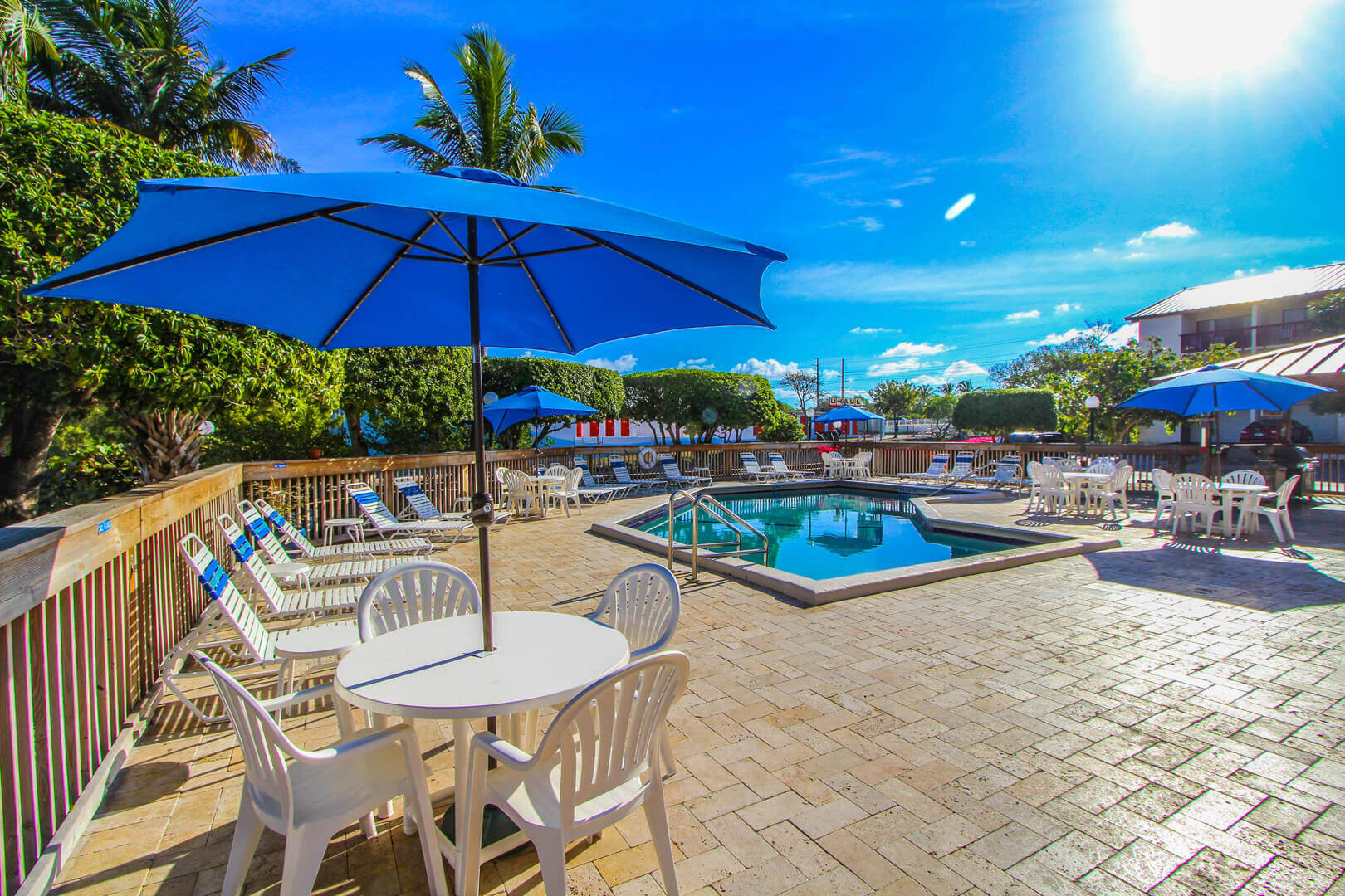 A refreshing pool with lounging area VRI's Florida Bay Club in Florida.