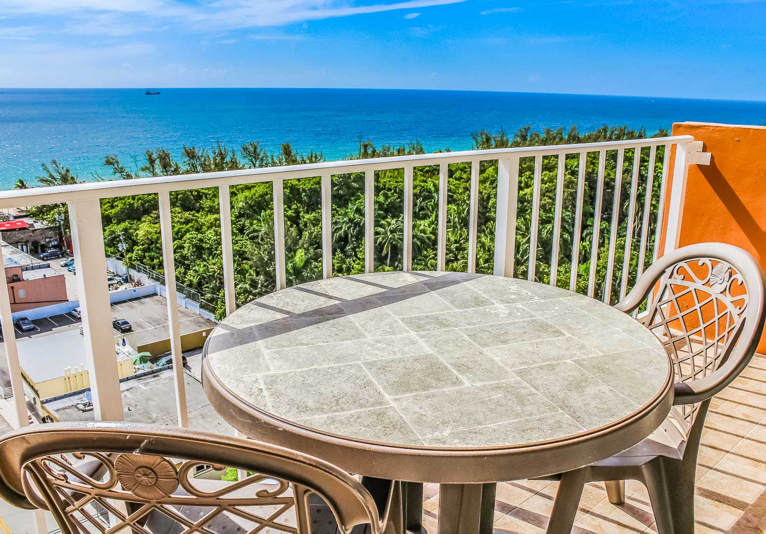 A relaxing beach view from the balcony at VRI's Ft. Lauderdale Beach Resort in Florida.
