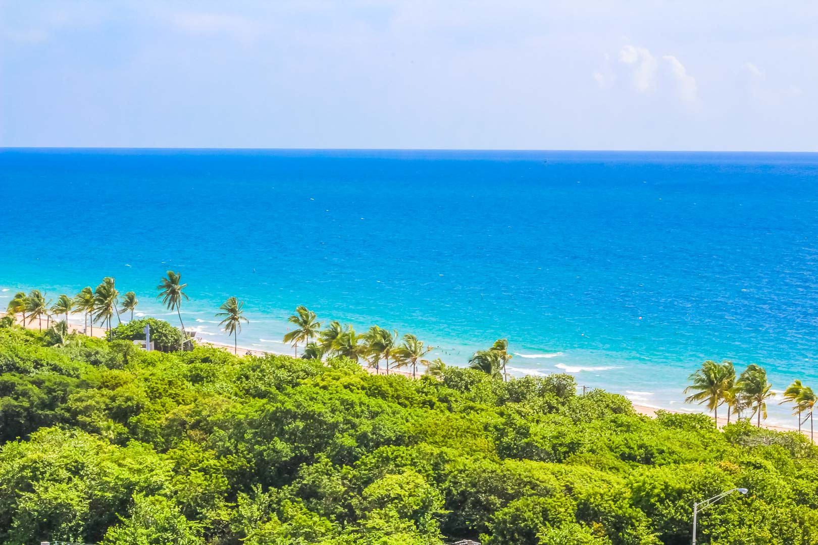 A scenic view of the beach at VRI's Ft. Lauderdale Beach Resort in Florida.
