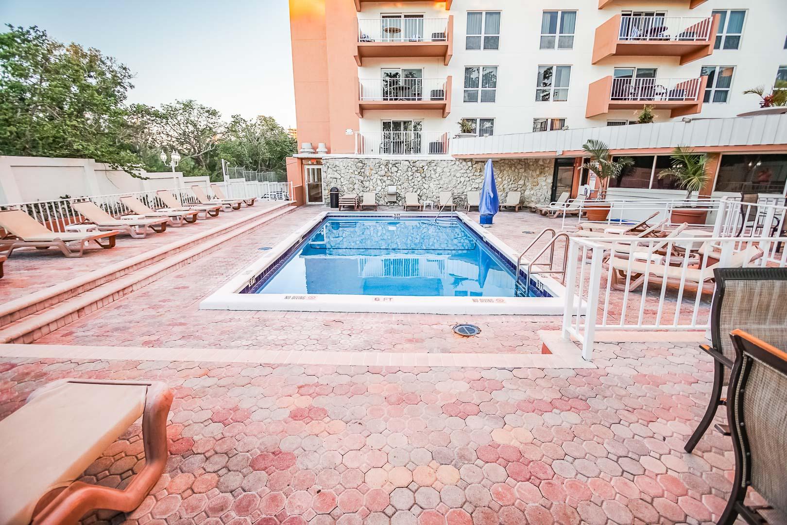 The pool deck at VRI's Ft. Lauderdale Beach Resort in Florida.