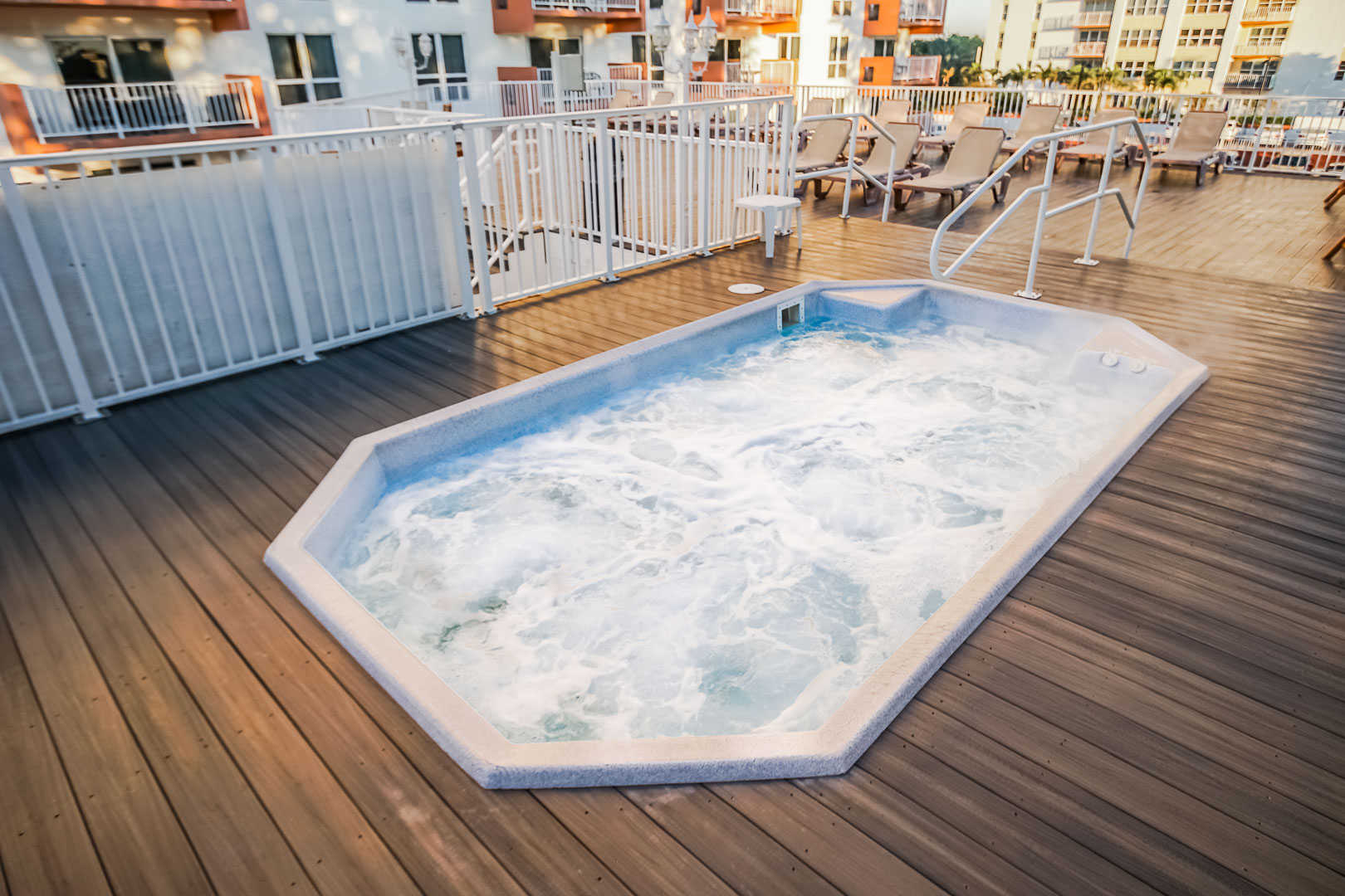 Jacuzzi at the pool deck at VRI's Ft. Lauderdale Beach Resort in Florida.