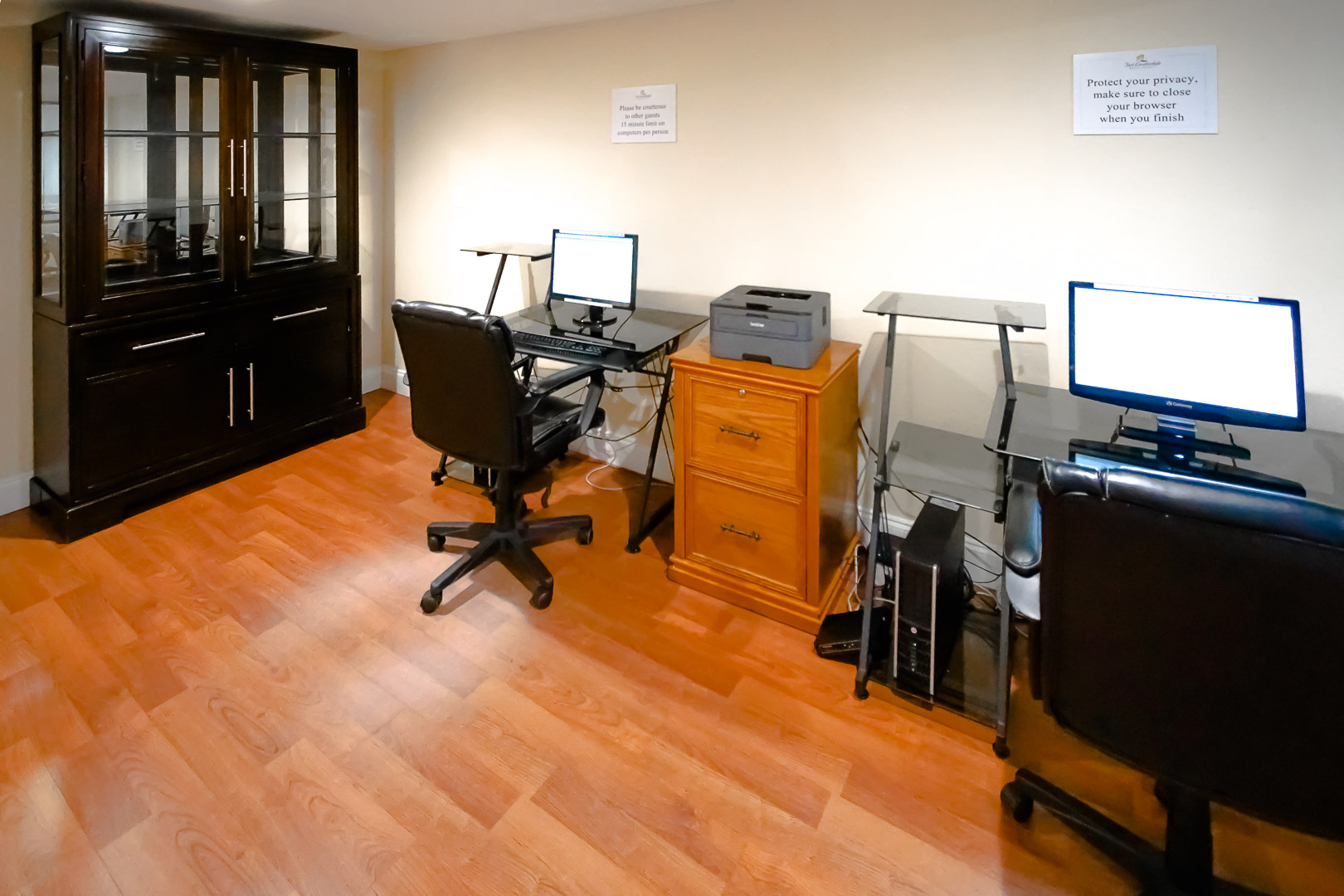 A computer room at VRI's Ft. Lauderdale Beach Resort in Florida.