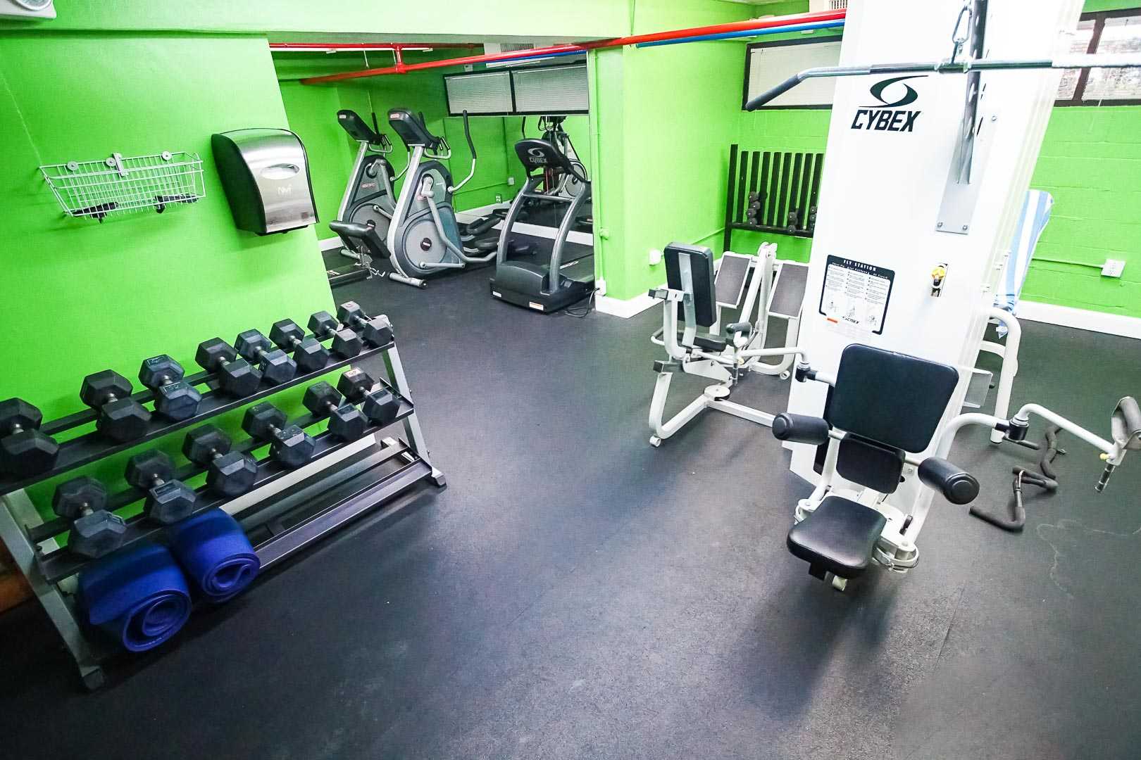 A fully equipped exercise room at VRI's Ft. Lauderdale Beach Resort in Florida.