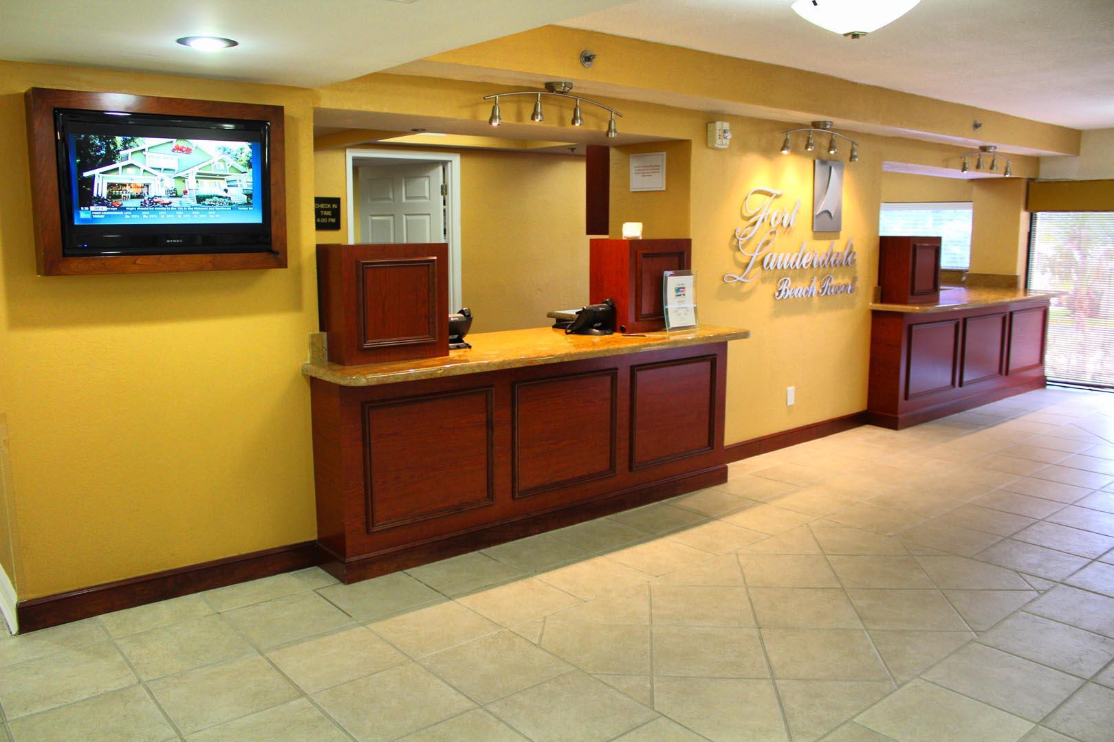 Ft Lauderdale Beach Resort Club Front Desk