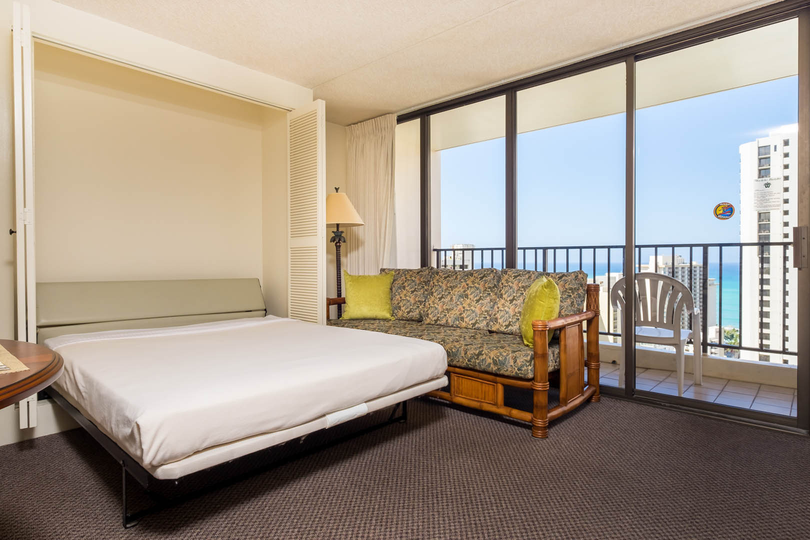 An expansive murphy bed at VRI's Kuleana Club in Lahaina, Maui.