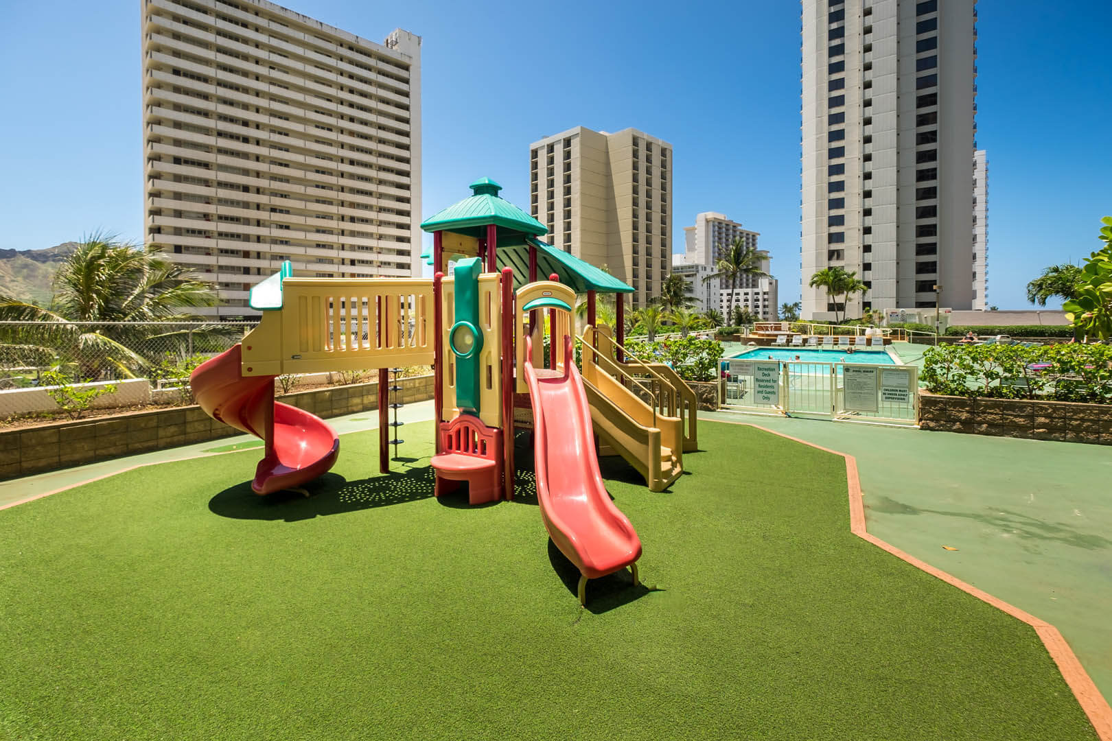 A colorful playground at VRI's Kuleana Club in Lahaina, Maui.
