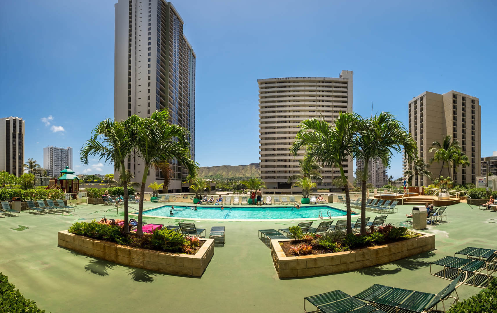 An expansive view of the pool at VRI's Kuleana Club in Lahaina, Maui.