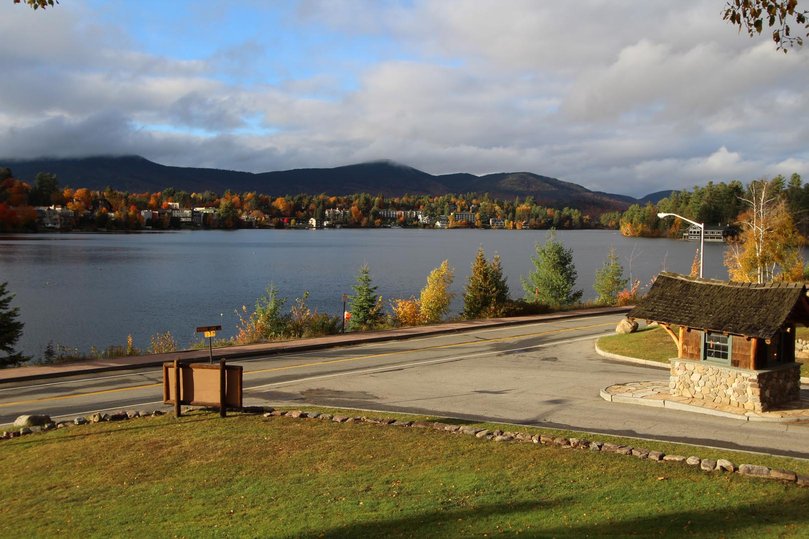 A relaxing view of the lake at VRI's Lake Placid Club Lodges in New York.
