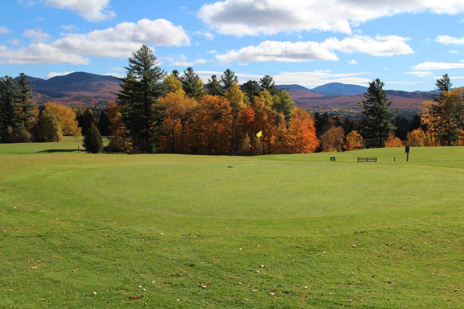 A spacious outdoors at VRI's Lake Placid Club Lodges in New York.