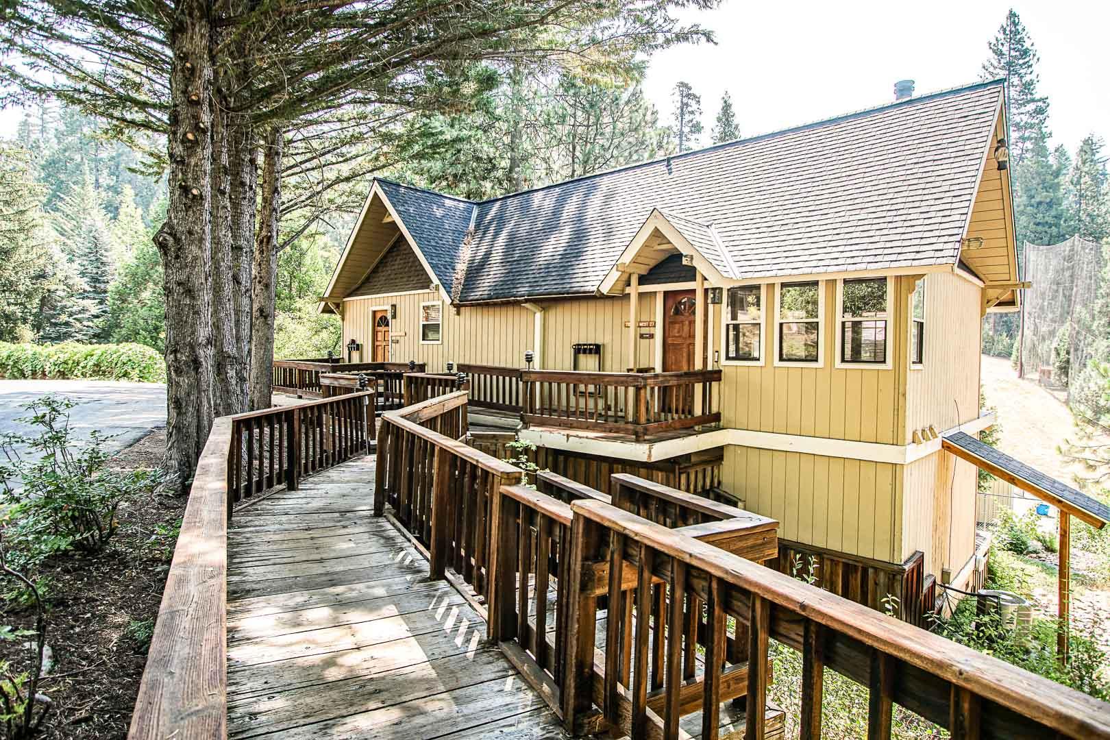 A peaceful view at VRI's Mountain Retreat Resort in California.