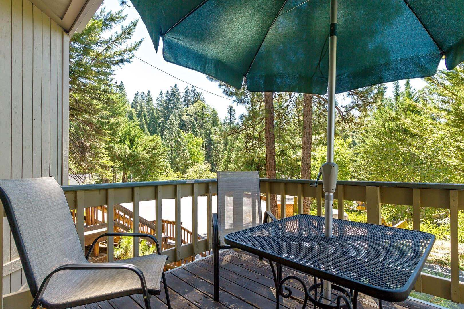 A two bedroom loft view at VRI's Mountain Retreat Resort in California.