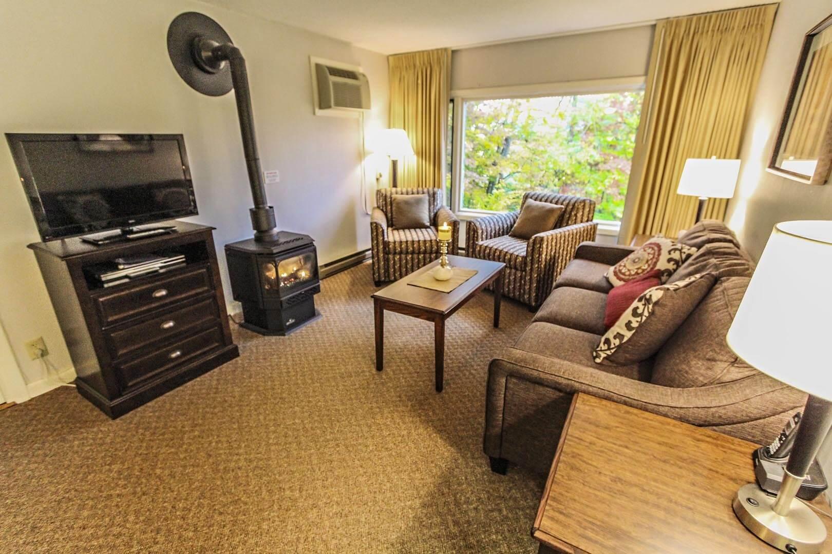 Mountainside Resort At Stowe Living Room