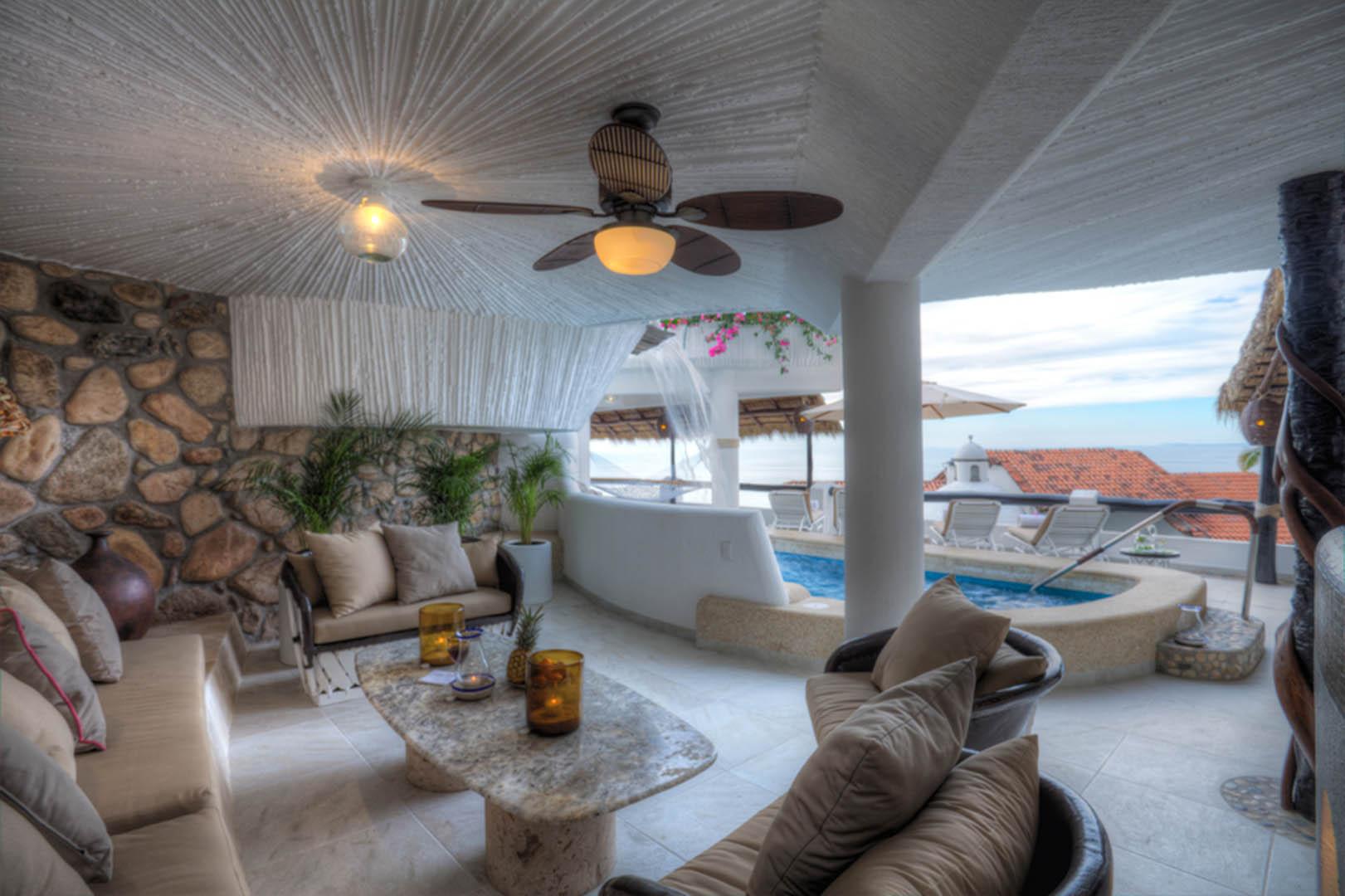 Ocho Cascadas Living Room Area