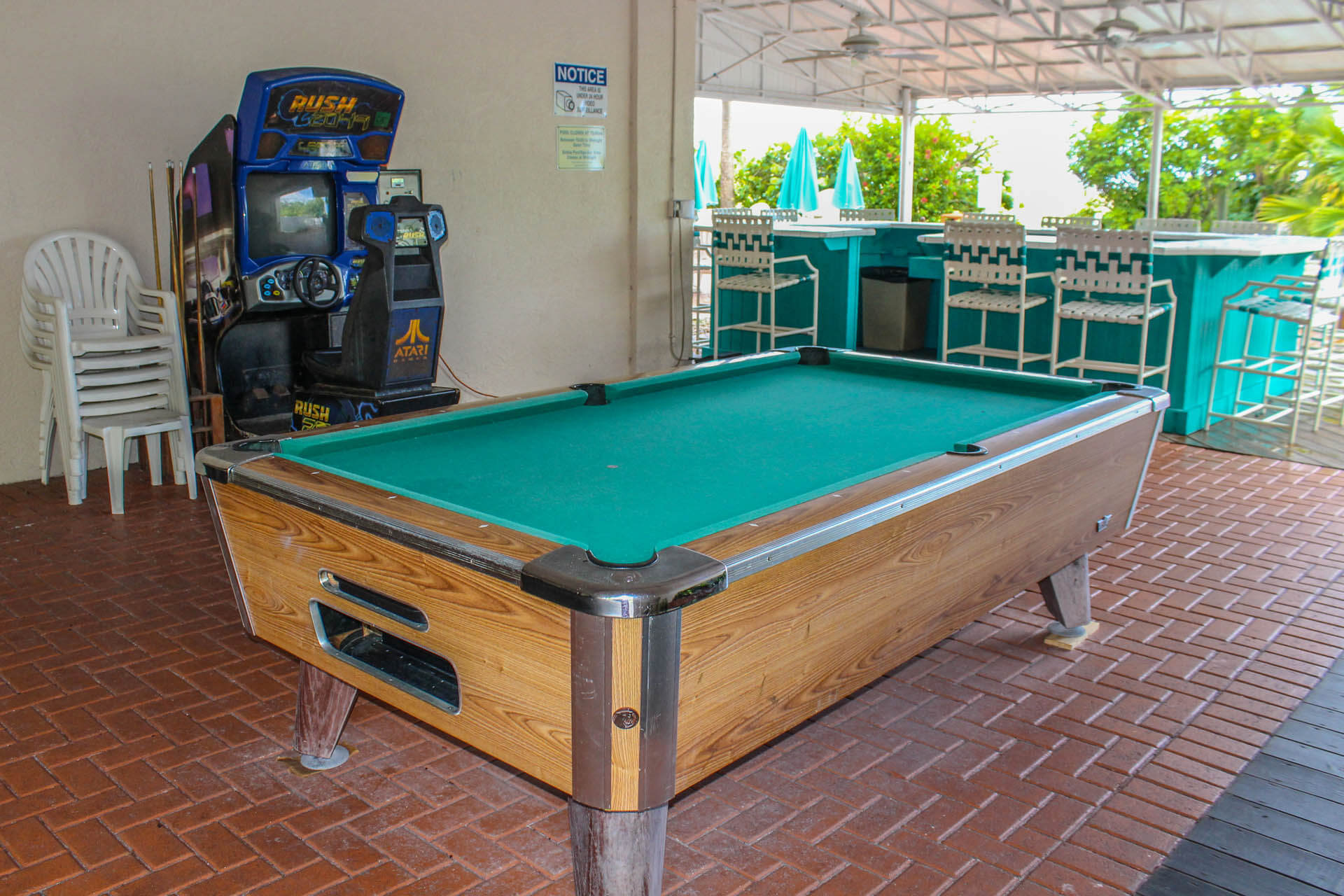 Sand Pebble Pool Table