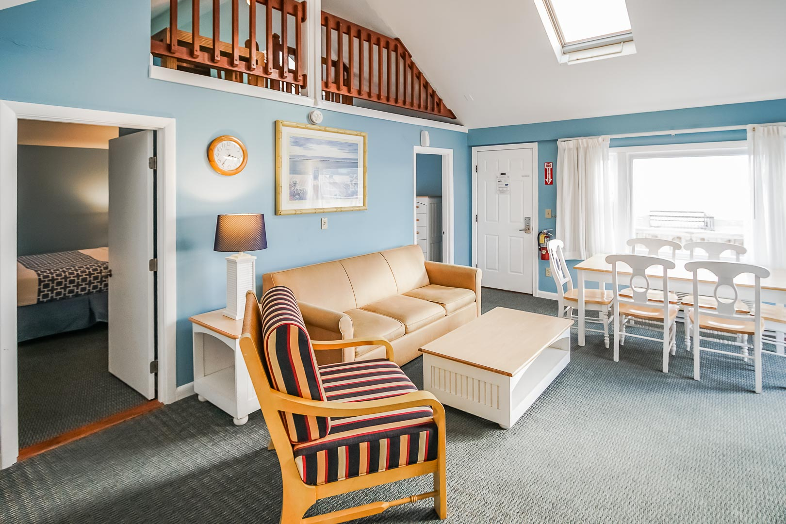 An expansive one bedroom with a loft at VRI's Seawinds II Resort in Massachusetts.