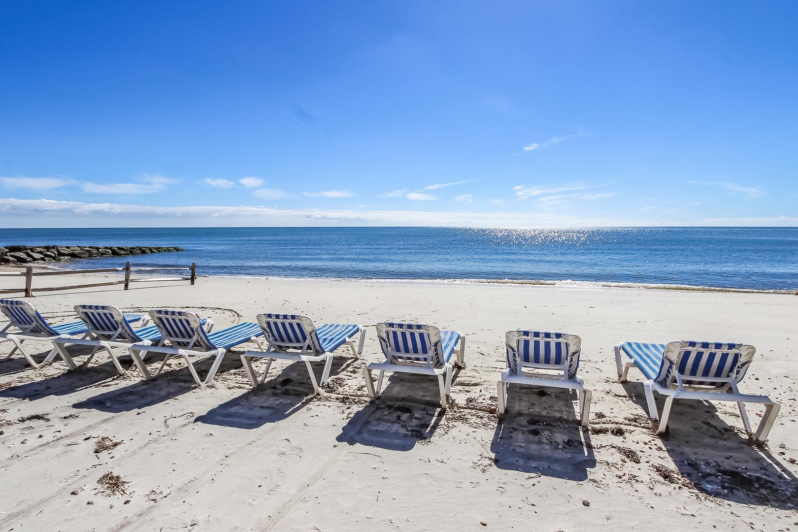 Beach lounging chairs for the family to enjoy at VRI's Seawinds II Resort in Massachusetts.