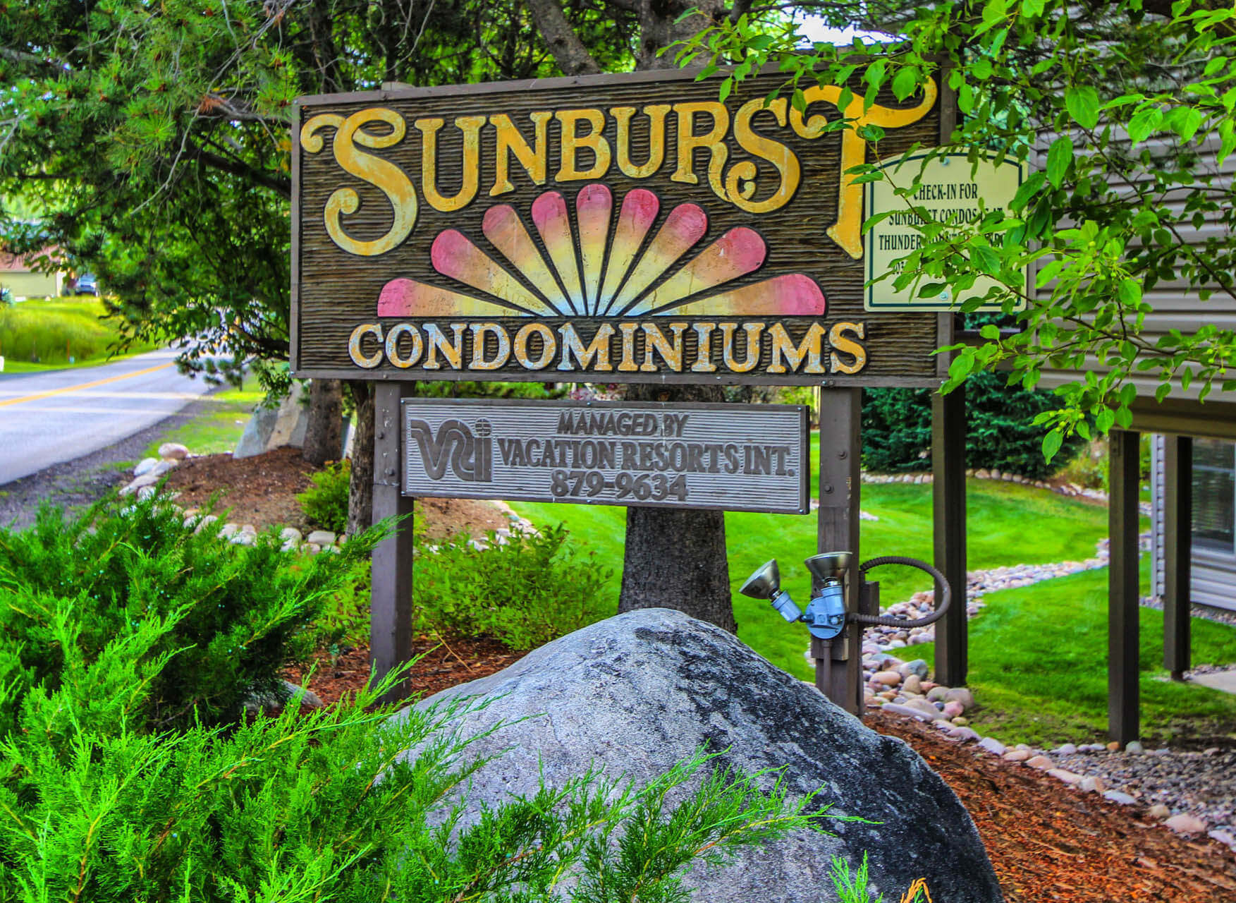 Sunburst Resort Signage