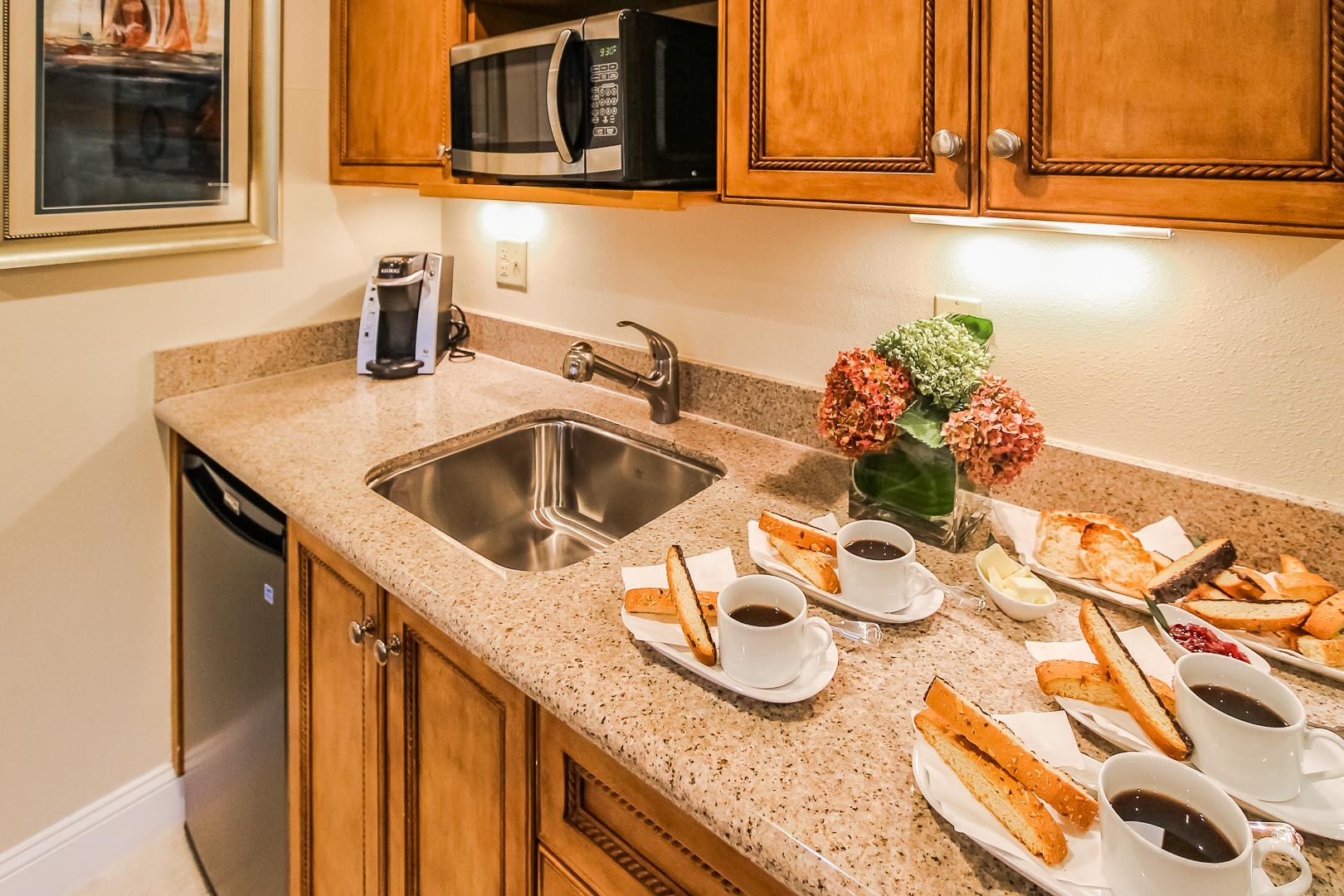 A beautiful kitchen at VRI's The Cove at Yarmouth in Massachusetts.