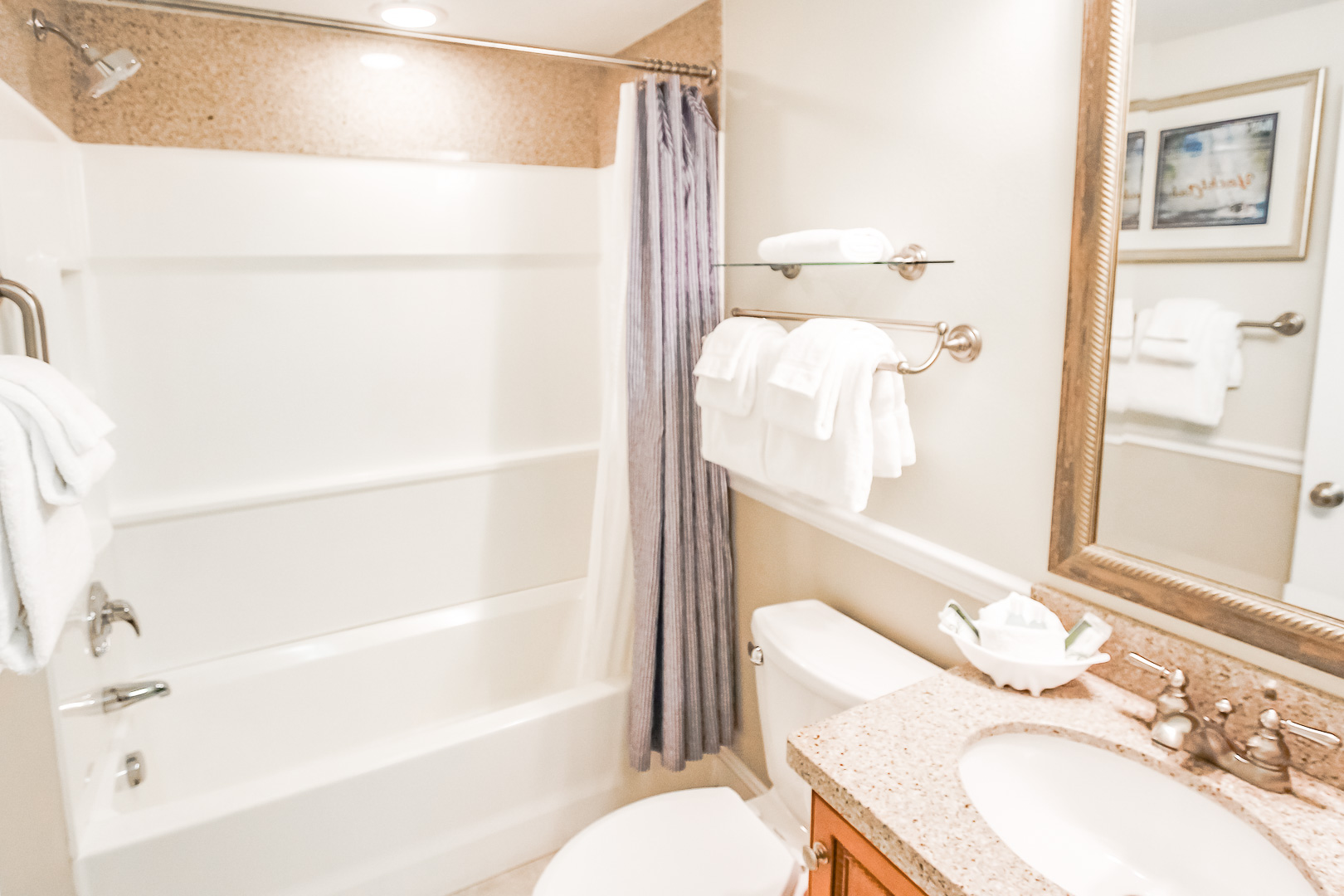 A clean bathroom at VRI's The Cove at Yarmouth in Massachusetts.