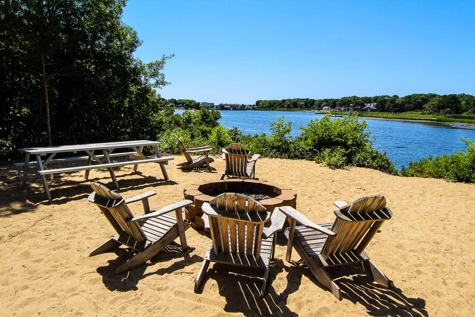 Clear skies and a a refreshing view at VRI's The Cove at Yarmouth in Massachusetts.