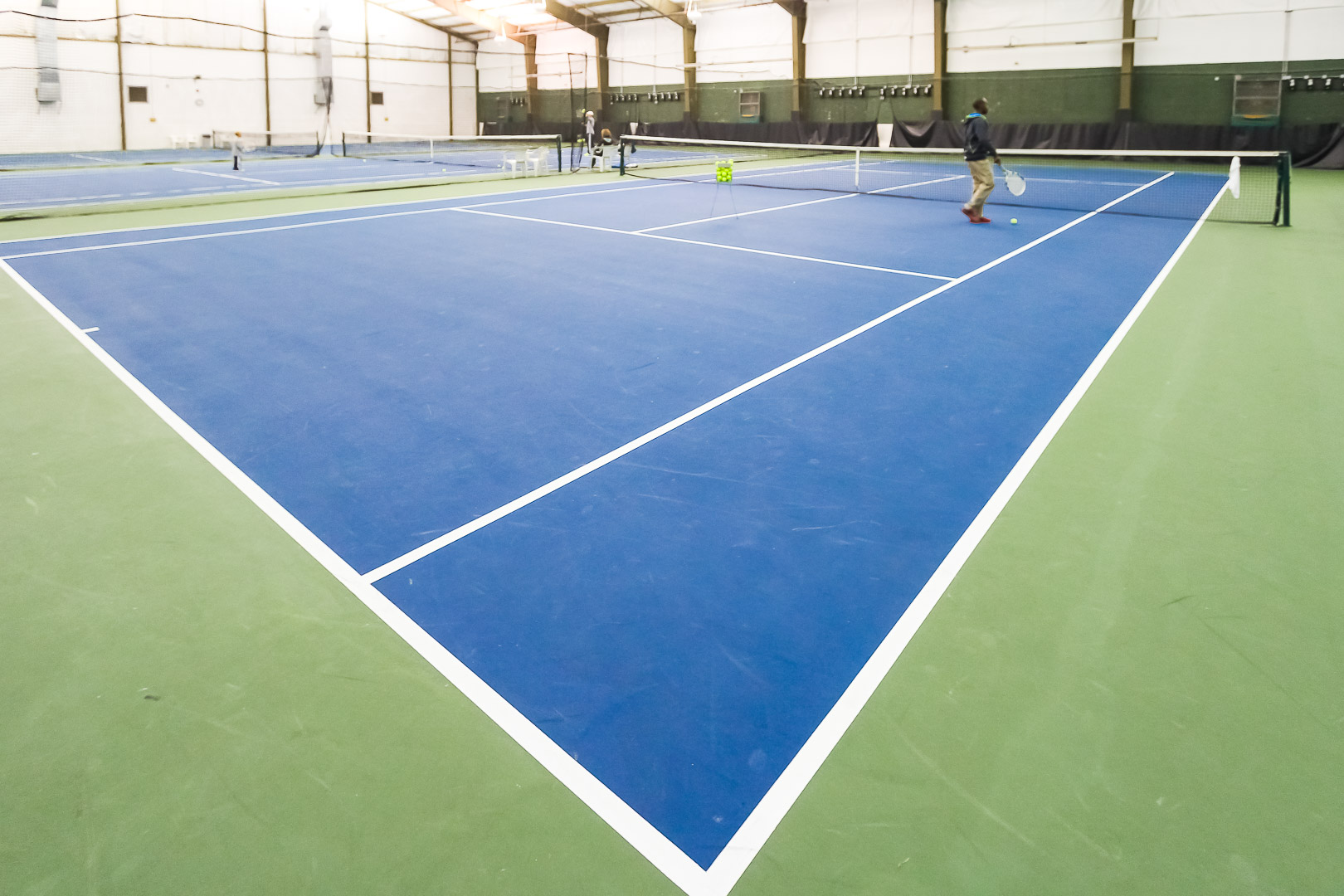 Massive tennis courts at VRI's The Cove at Yarmouth in Massachusetts.