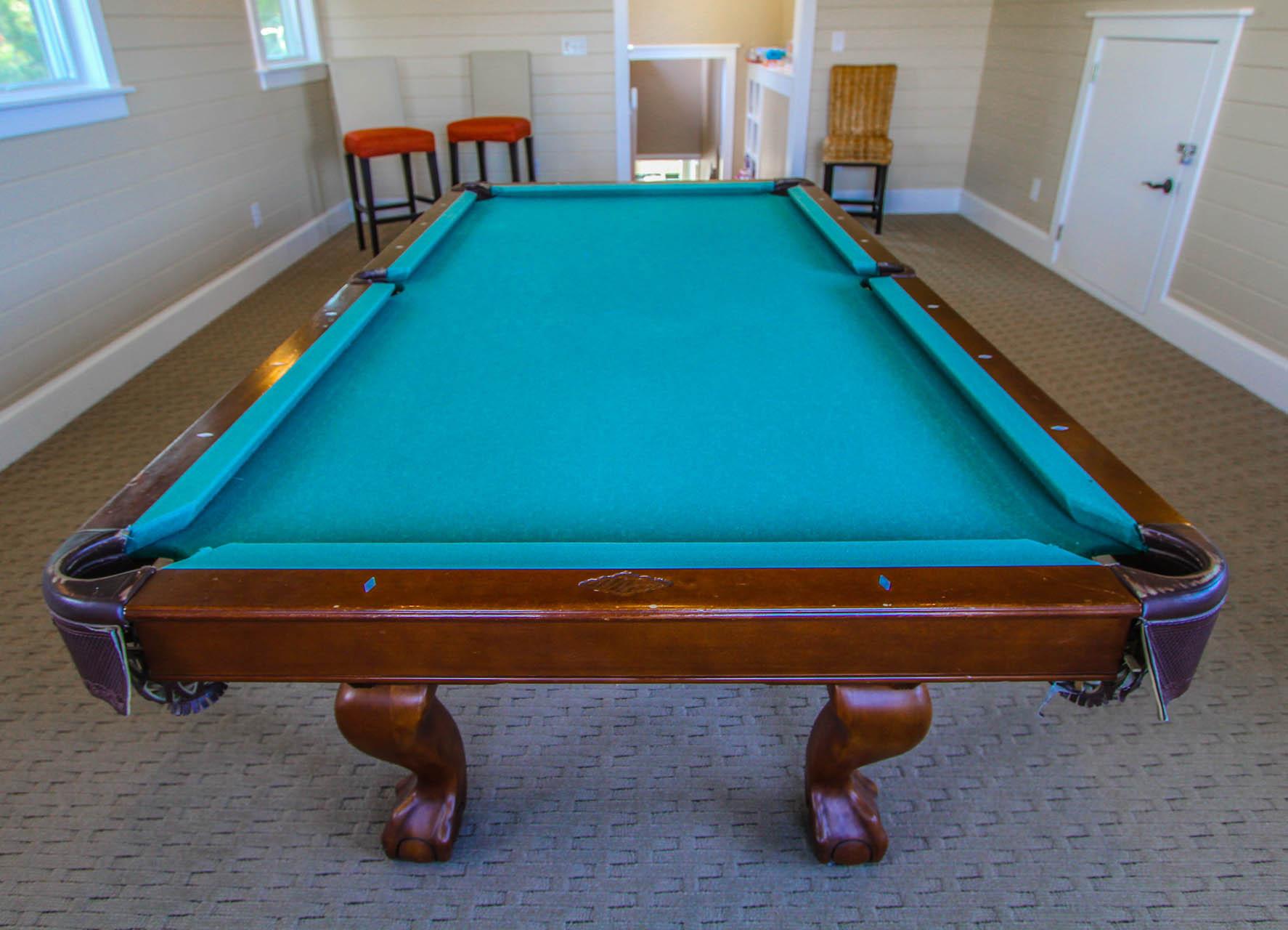 The Hammocks Bald Head Island Pool Table