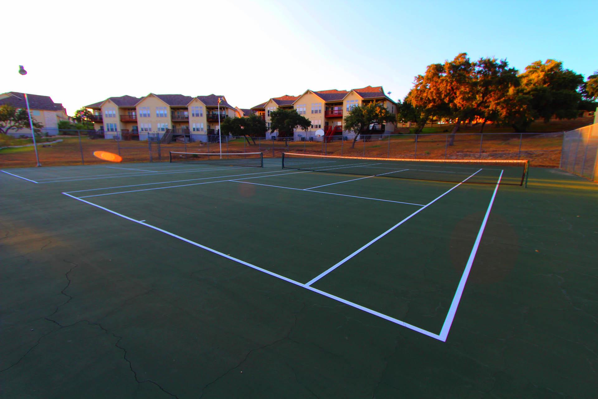 The Shores Lake Travis Tennis Court