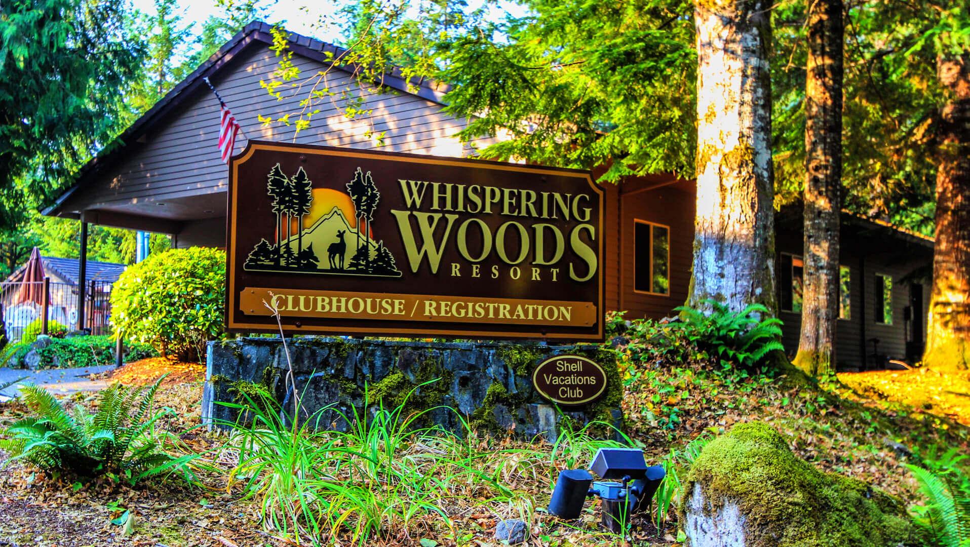 Whispering Woods Signage