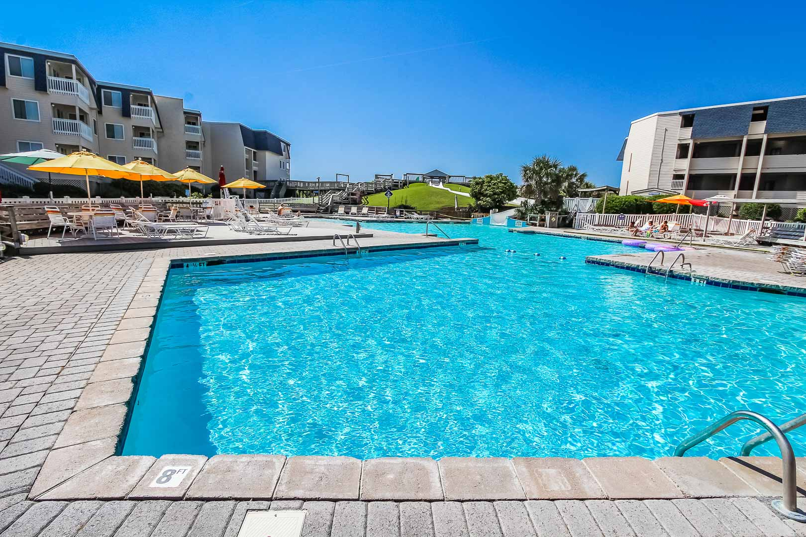 A refreshing pool at VRI's A Place at the Beach III in North Carolina
