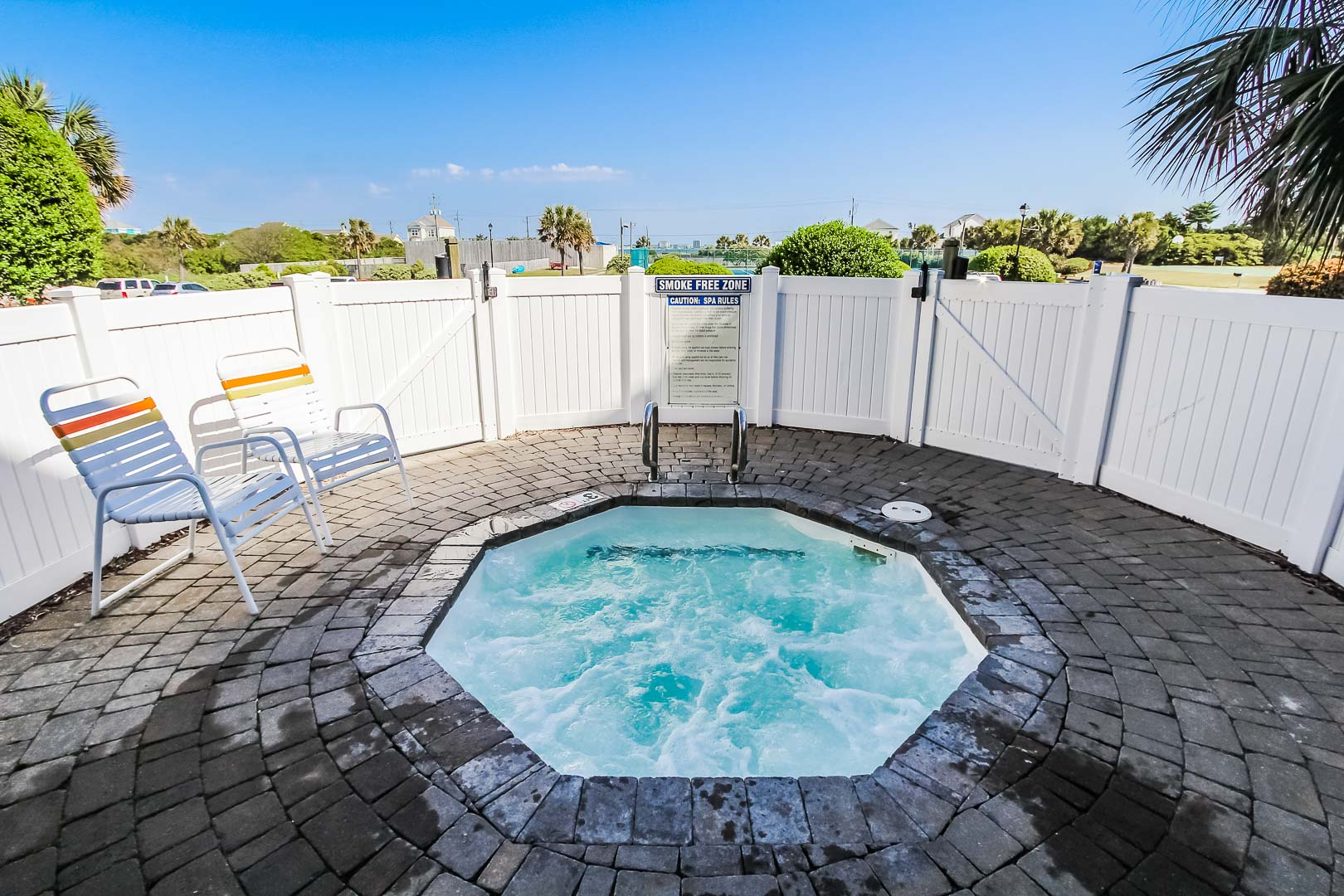 A peaceful jacuzzi area at VRI's A Place at the Beach III in North Carolina