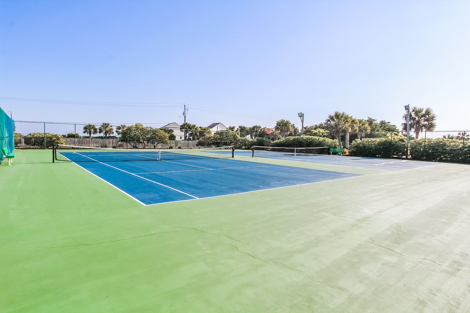 A rejuvenating tennis court at VRI's A Place at the Beach III in North Carolina