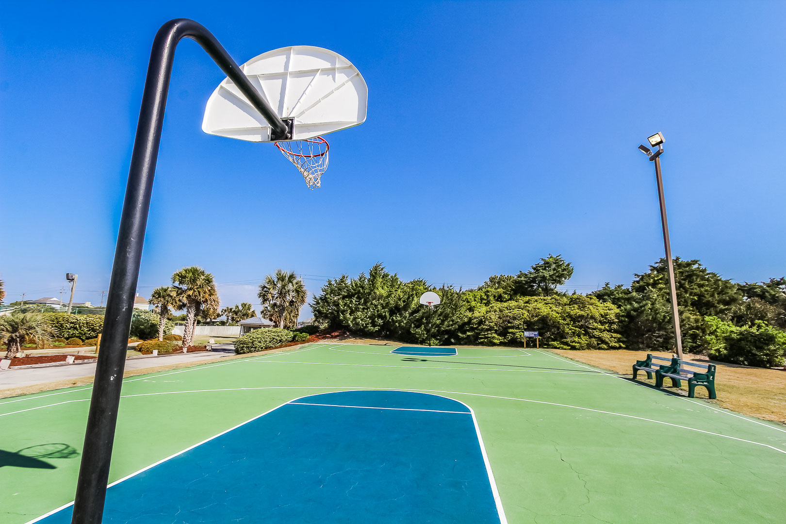A rejuvenating basketball court at VRI's A Place at the Beach III in North Carolina
