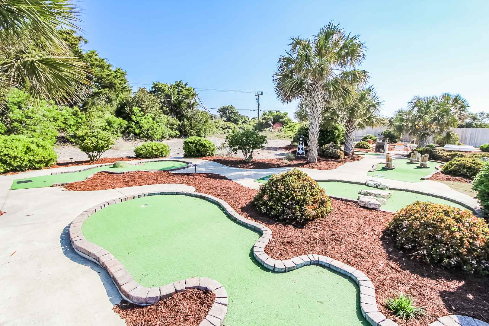 A mini-golf area for the family to enjoy at VRI's A Place at the Beach III in North Carolina