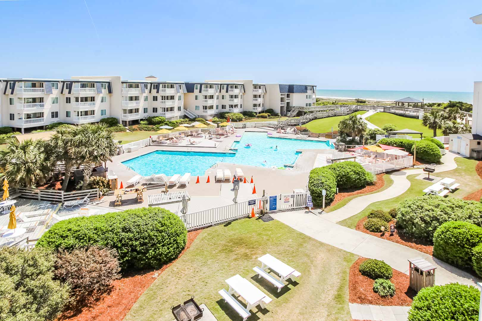A lovely resort view of at VRI's A Place at the Beach III in North Carolina