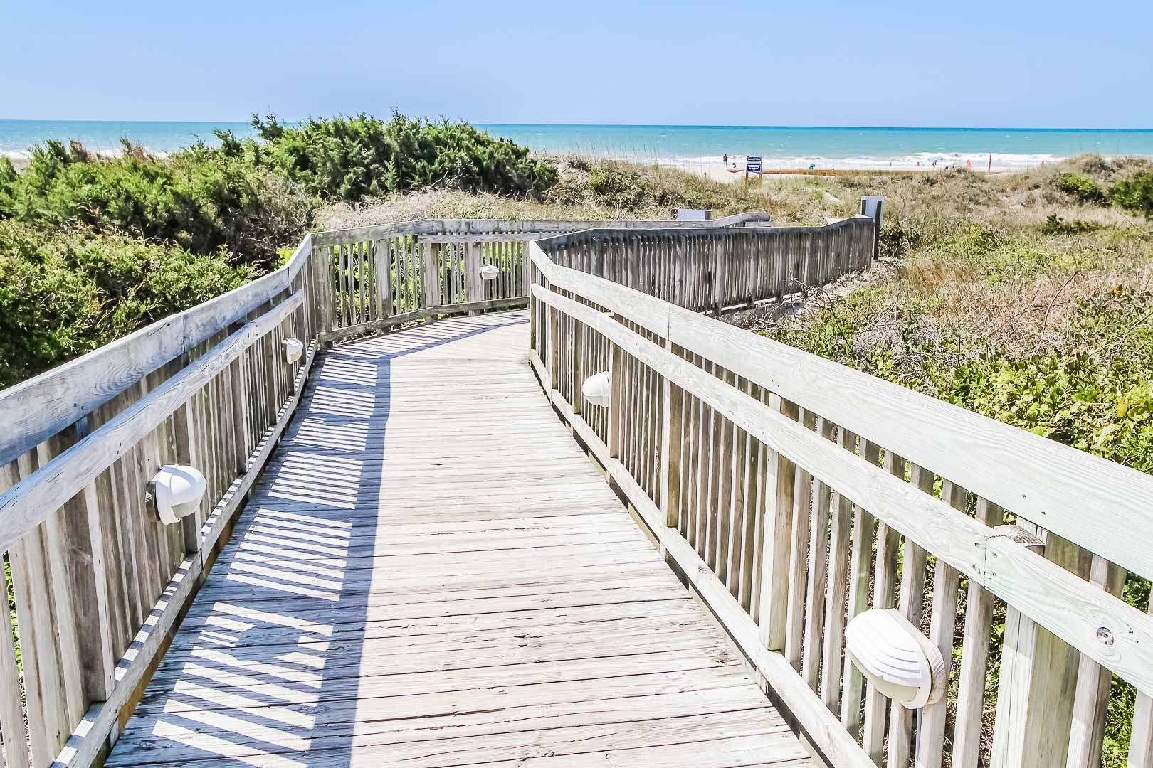 A peaceful walk from the resort with beach access  at VRI's A Place at the Beach III in North Carolina