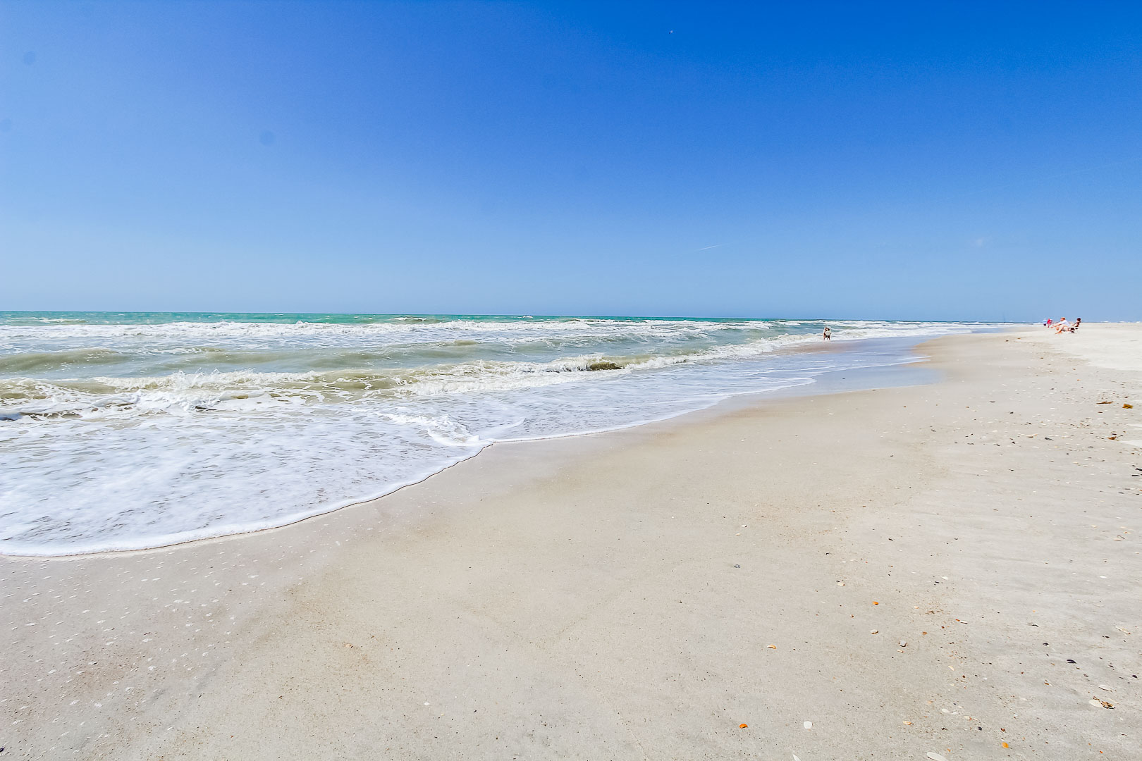 A peaceful view of the beach  at VRI's A Place at the Beach III in North Carolina