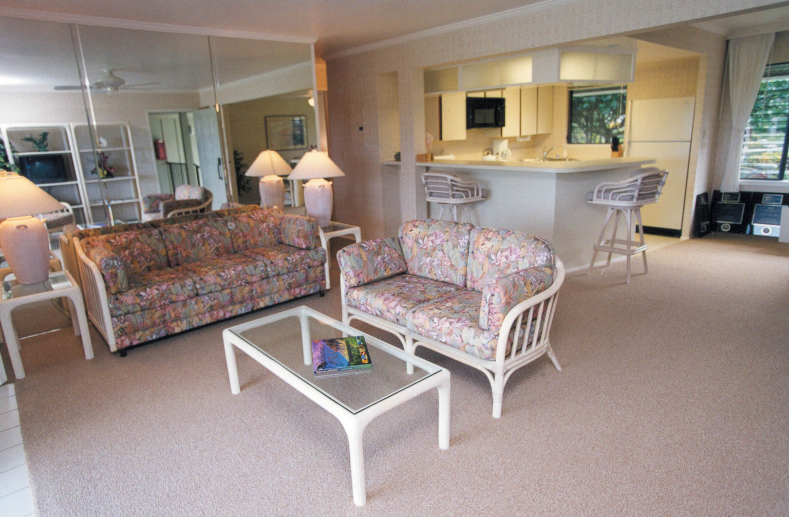 The charming living room area at VRI's Alii Kai Resort in Hawaii