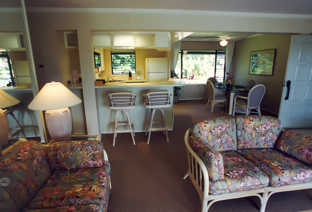 A cozy living room area at VRI's Alii Kai Resort in Hawaii